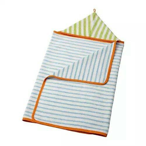"Ikea STÄNKA Baby towel with hood, light blue, green, 24x49 "" $7.99"