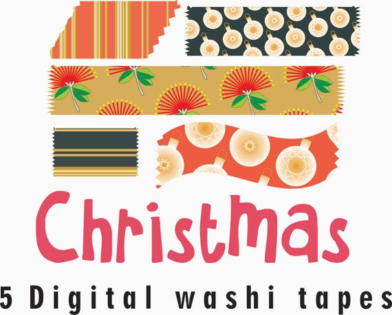 Christmas digital washi tape Christmas washi tape by GemmedSnail, $1.00
