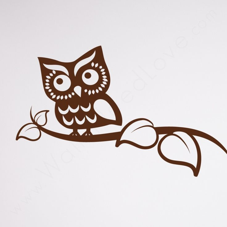 Watchful Owl Wall Decal And A Bed