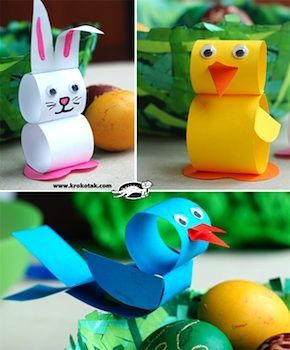 Things to Make and Do, Crafts and Activities for Kids - The Crafty Crow: Easter Crafts