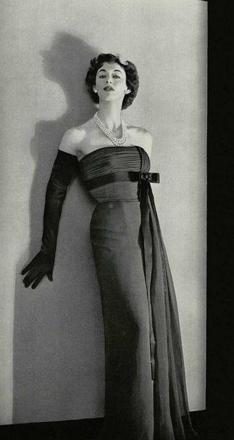 Lofficiel de la Mode 1953 robe du soir Jacques Fath