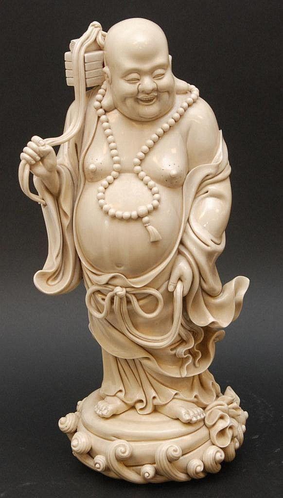 CHINESE BLANC DE CHINE PORECLAIN BUDDHA FIGURE