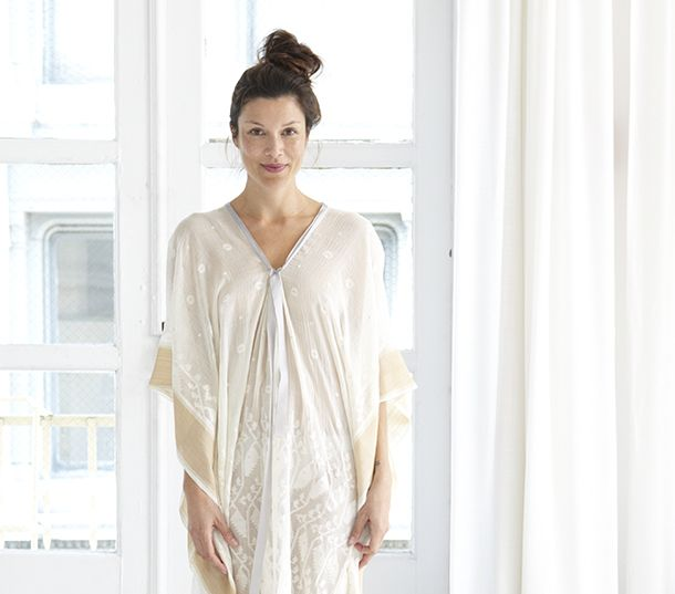 Caftan Chic by designer Monica Patel at Two New York | Photograph by Aimee Herring | Eco Fashion | Organic Spa Magazine: Organizations Spa, Spa Magazines