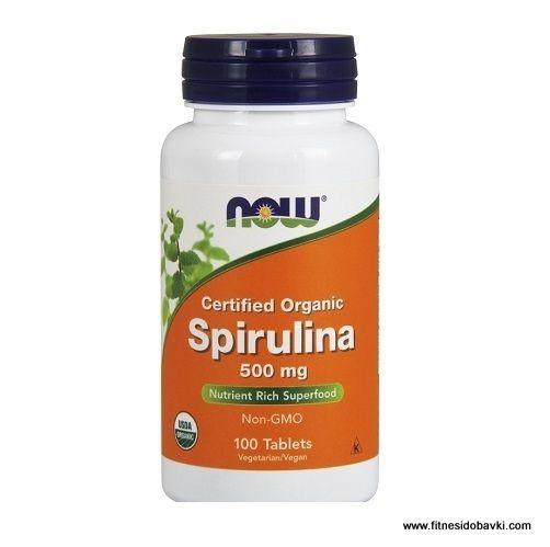 Now spirulina 500 mg е хранителна добавка, съдържаща синьо-зелени морски водорасли, познати още като спирулина максима или спирулина платенсис.