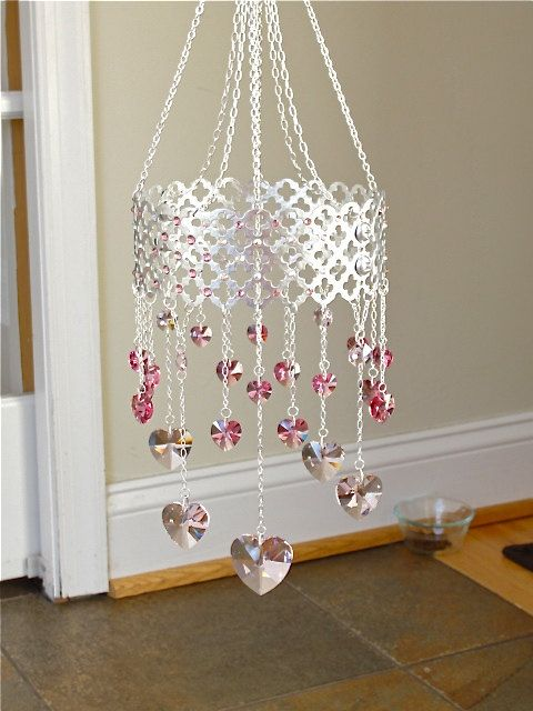 Moroccan pink heart mobile.