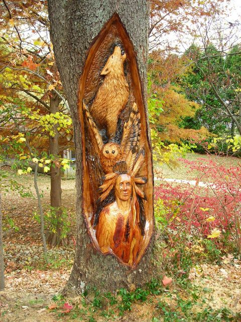 Carved tree stump google search gardening pinterest