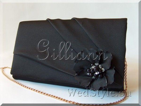 Вечерний клатч Gilliann Black Katryn EVA054, http://www.wedstyle.su/katalog/bride/vsum/clutch-katrin-black, http://www.wedstyle.su/katalog/bride/vsum, evening bag, clutch