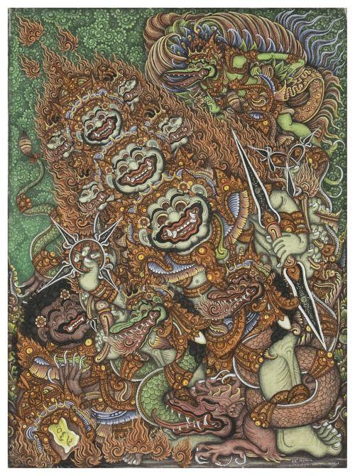 Ravana, balinese painting