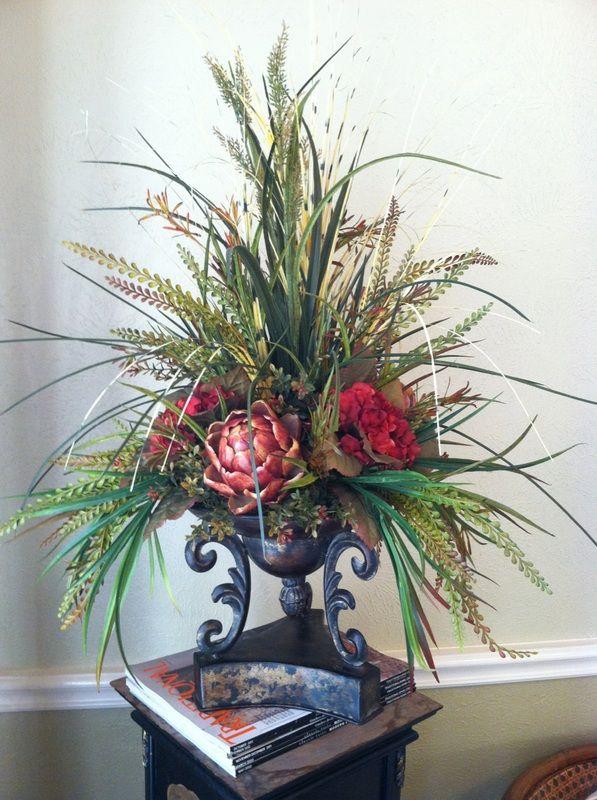 Artichoke & Hydrangea Centerpiece - Greatwood Floral Designs