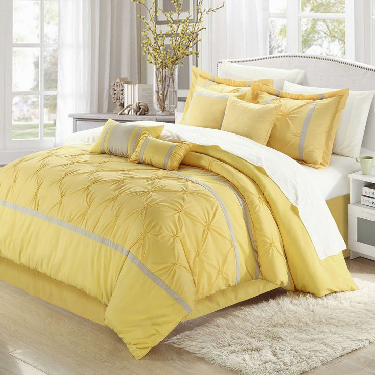 chic home valde rose 8piece king comforter set in yellowgrey