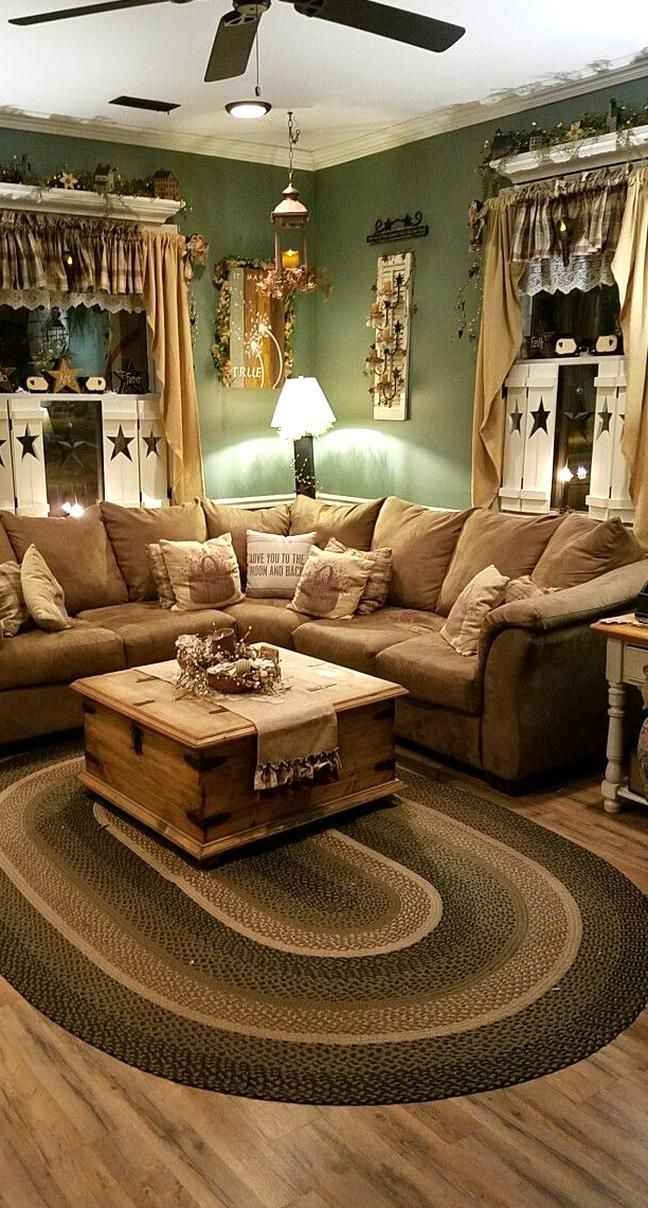 My Happy Place Living Room Decor Country Country Living Room Rustic Living Room Furniture