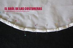 EL BAÚL DE LAS COSTURERAS: Cómo coser un ruedo o dobladillo curvo, con acabado profesional