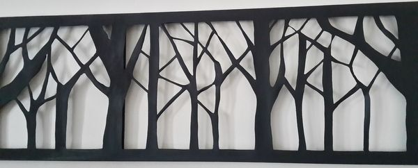 Cut out Canvas. Winter Trees