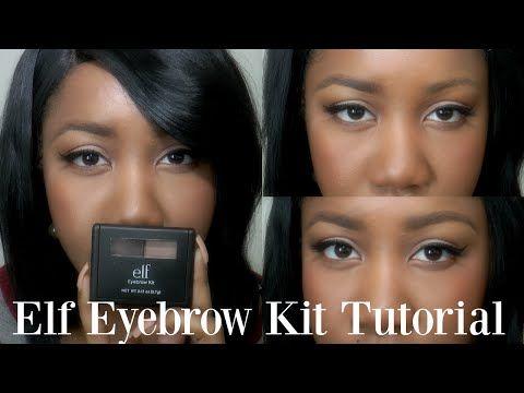 $3 Bomb Brows?!   Elf Eyebrow Kit Medium  Tutorial - YouTube
