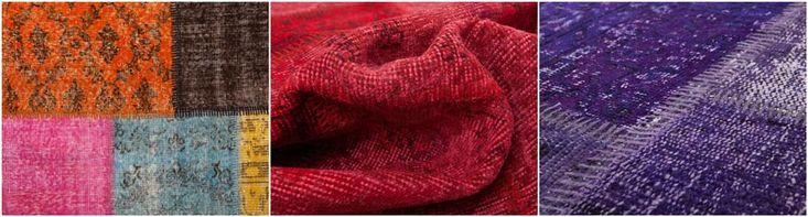 overdyed   sukhi.nl   #Sukhi #patchwork #vloerkleden komen rechtstreeks uit #Turkije. Dé regio voor topkwaliteit kleden. De patchwork kleden zijn #handgemaakt van allerlei verschillende stukken #vintage kleden. Ze brengen een unieke, kleurrijke sfeer in je ruimte. Vanaf €170