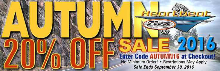 """Don't Miss the 20% Off Autumn Sale on Now! Coupon Code """"AUTUMN16"""" at Checkout.   Order today to save 20% off all parts and accessories with the exception of any parts marked """"No further discount"""".  The sale starts September 21th and ends September 30th at midnight.  PLEASE NOTE: We have designated many Non-discount parts in this sale. Specially priced parts marked in red require being ordered online to receive those prices."""