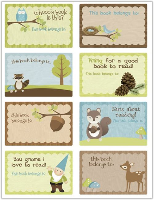 My Owl Barn: Freebie: Back to School Bookplates