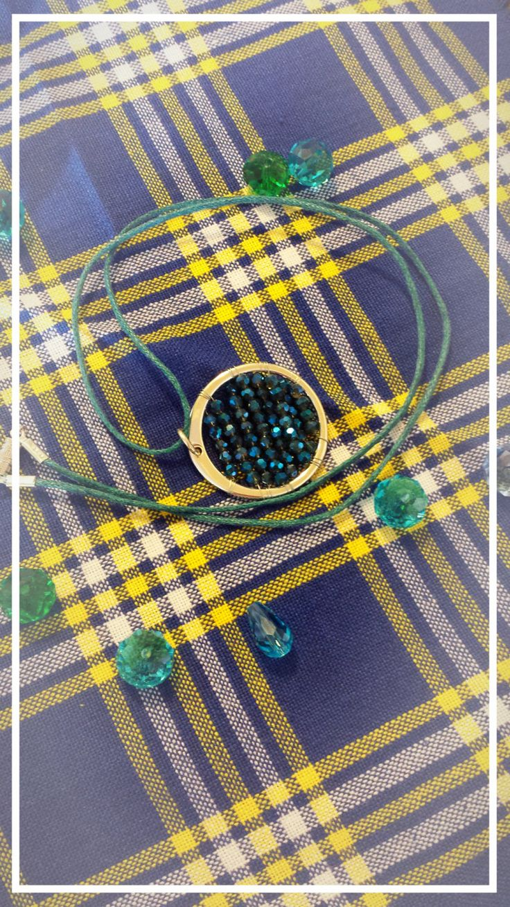 Elegant fancy crystal pendant by BlueBirdjewel on Etsy