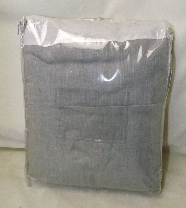 "Pottery Barn Gray Linen with Silk Trim QUEEN Bed Skirt 14"" #PotteryBarn"