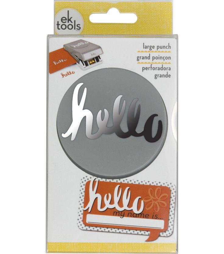 EK Tools Large Punch - Hello Word