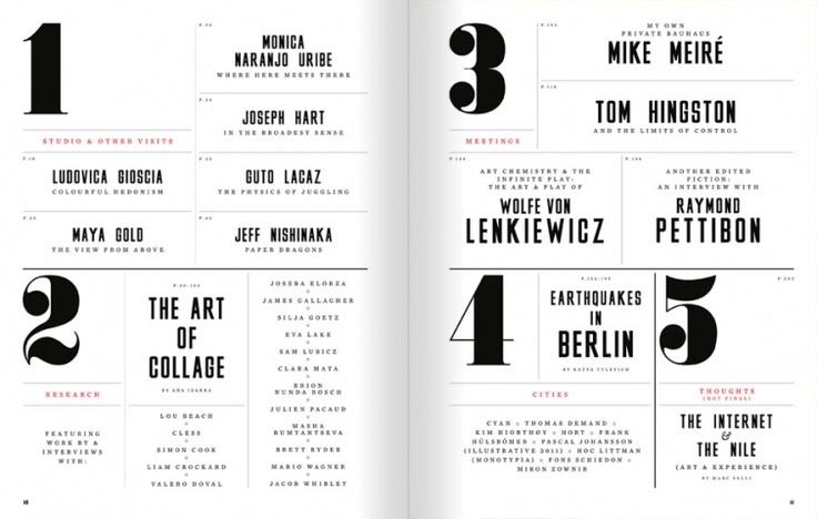Magazine Table Of Contents Design Inspiration - klejonka