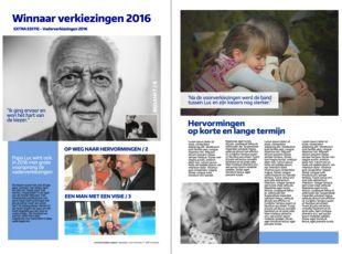 Het meest persoonlijke vaderdagcadeau is een krant met foto's en zelfgeschreven teksten. Zelf een krant maken is heel eenvoudig op www.happiedays.be. Een uniek en goedkoop cadeau!