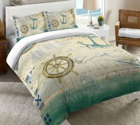 This Nautical Chart Bedding will take you on a journey through the seas. If only in your dreams! Shop here: http://www.completely-coastal.com/2016/01/nautical-chart-decor.html