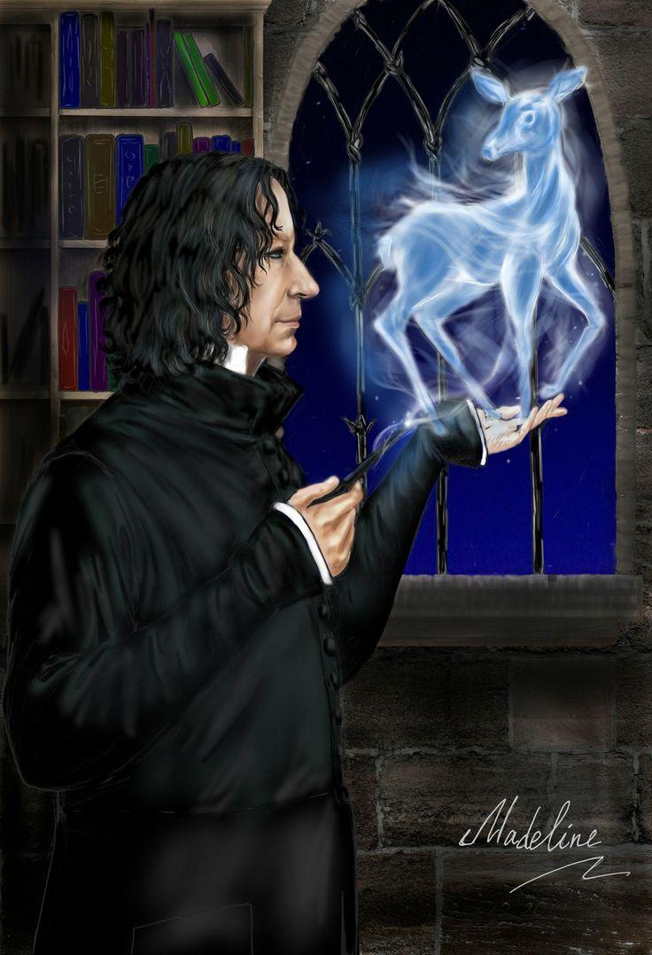 Snape with patronus by MadelineSlytherin.deviantart.com on @deviantART