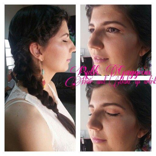 Peinado y maquillaje evento de dia