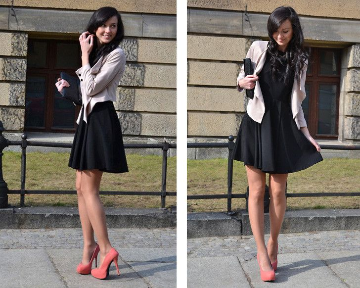 little black dress and jacket - Google Search | cool clothing