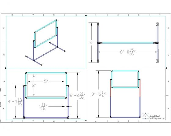 Adjustable Projector Screen Stand - Project - Simplified Building