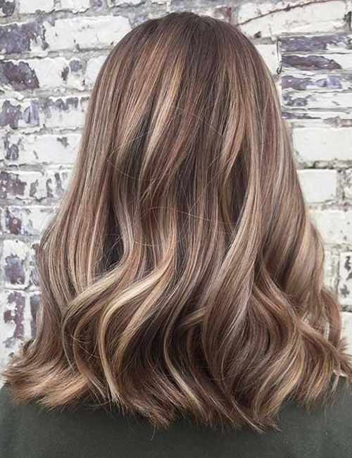 Lob Style & Balayage Highlights Trendy Hairstyles 2017-2018