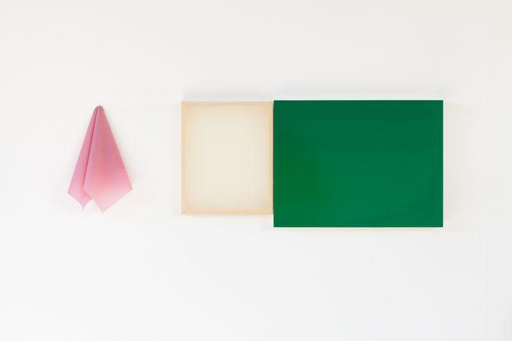 Tabitha 1 (2013), oil on gesso plus latex, 31cm x 93cm overall