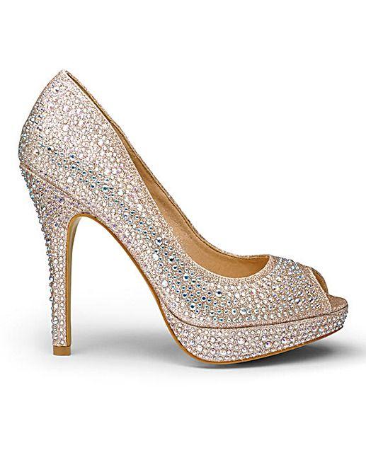 AX Paris Peep Toe Shoes D Fit | Simply Be
