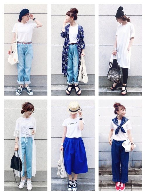 夏の定番アイテムと言ったら「白T」「デニムパンツ」「ボーダー」!それぞれの今年っぽい着こなしとコーデのコツをご紹介します。