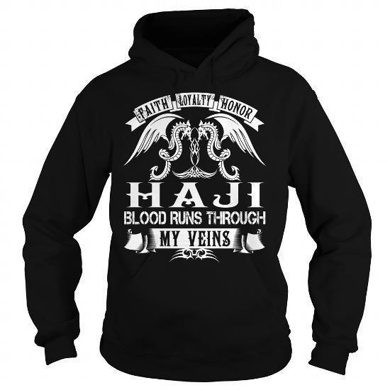 I Love HAJI Blood - HAJI Last Name, Surname T-Shirt T-Shirts