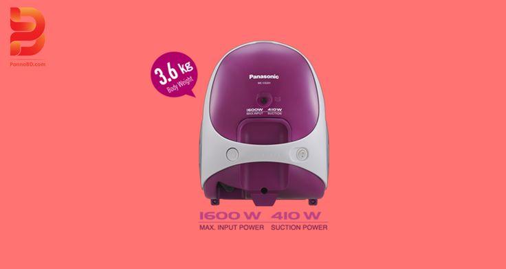 ✽Panasonic Vacuum Cleaner MC CG331 ✽Price : TK 7,700.00 ✽Key Feature - ✽POWER INPUT1 600W ✽POWER SUCTION 410W ✽CAPACITY DUST BAG 1.4L ✽WANDS EXTENSION Plastic x 2 pcs ✽Nozzle Crevice ✽1 Years' Service Warranty. ☎ :Contact -01872696793 ,0187696796. ☛ Please Visit us /www.ponnobd.com