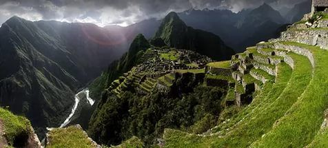 The enigmatic lost city of Machu Picchu, the most famous archaeological sit...