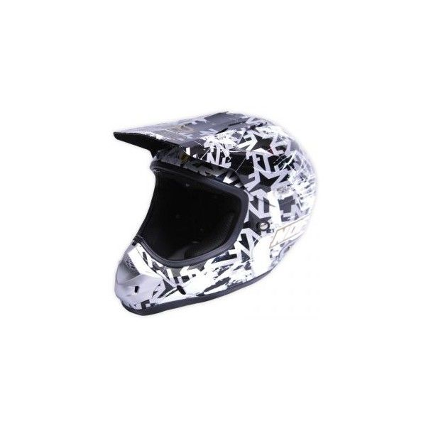 Casque No Fear Scratch Noir gris or - Speedway #speedwayfr #speed #france #moto #casque #white #blanc #casques #cross