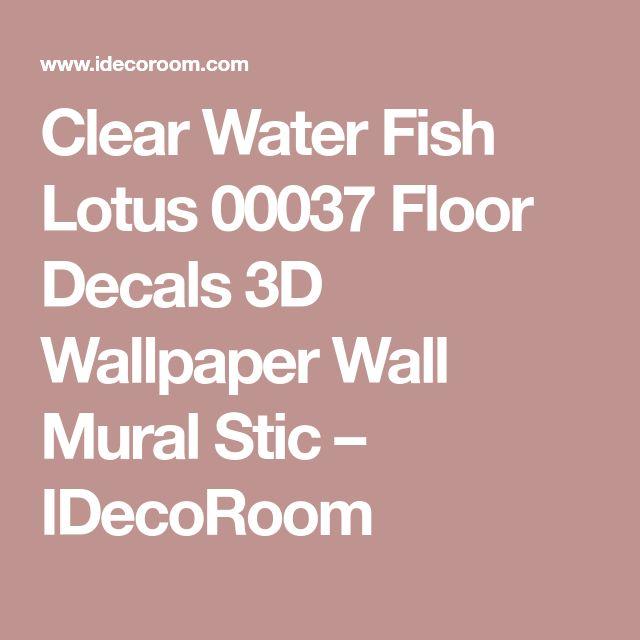 Clear Water Fish Lotus 00037 Floor Decals 3D Wallpaper Wall Mural Stic – IDecoRoom