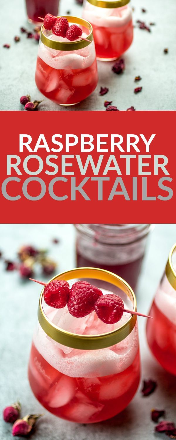 Raspberries, rosewater, sugar, and gin are all you need to make these stunning cocktails. Bring on the nice weather!
