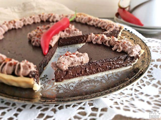 Ina Is(s)t: Die reinste Versuchung: Schokoladen-Chili-Tarte / Chocolate Chilie Tarte