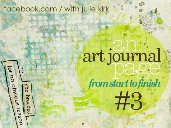 My Art-Journal Page: from start-to-finish No.3 'Pain Has a Thousand Faces' - a step-by-step photo-tutorial showing the stages of an journal page. Perfect for beginners and those too scared to even think about beginning!