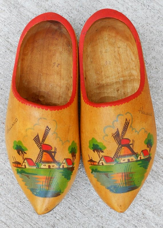 Dutch Wooden Shoes  Vintage  Holland by WidhalmsCollectibles, $20.00