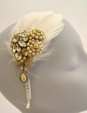 3. Handmade. It'd be a labor of love, and maybe take forever but I'd like to make hairpieces for my bridesmaids... more colorful but inspired by this  #modcloth  #wedding