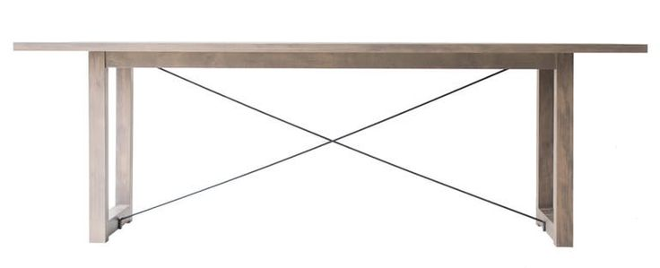 Distressed Dining Table   0517  Contemporary, Industrial, MidCentury  Modern, Transitional, Metal, Natural Material, Wood, Dining Room Table by Bertu