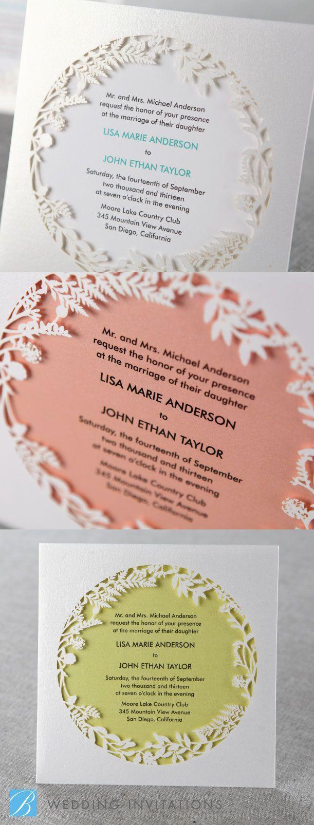 Enchanted Forest 1 Laser Cut P by B Wedding Invitations