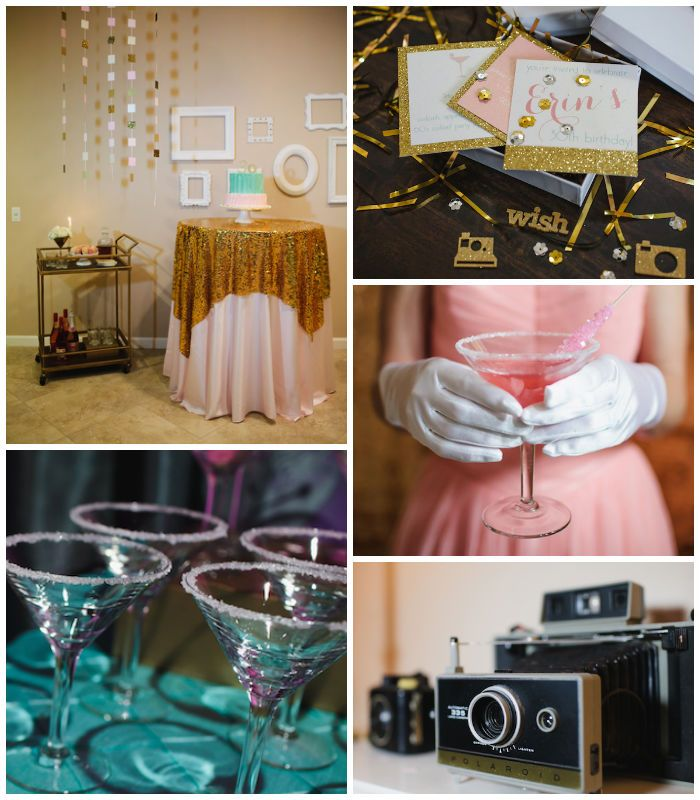 """""""Mad Men"""" 60's Style 30th Birthday Party Full of Fabulous Ideas via Kara's Party Ideas 