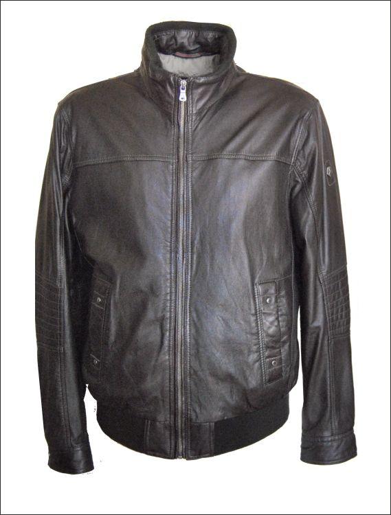 Ανδρικό δερμάτινο μπουφάν polo με μάλλινες λεπτομέρειες Μοντέλο: ML-945 Δέρμα: black nappa Τιμή: 320€