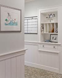 Built-in mail and paper station.  Great idea for getting rid of all our random papers around the kitchen & living area